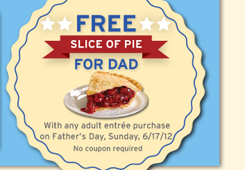 FREE Slice of pie for Dad on Father's Day