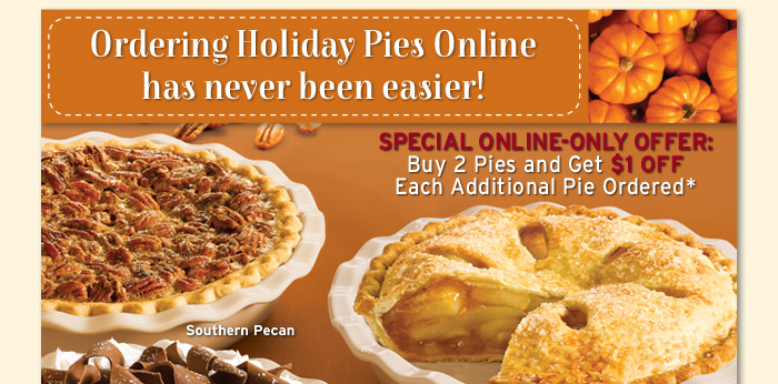Ordering Holiday Pies Online has never been easier!