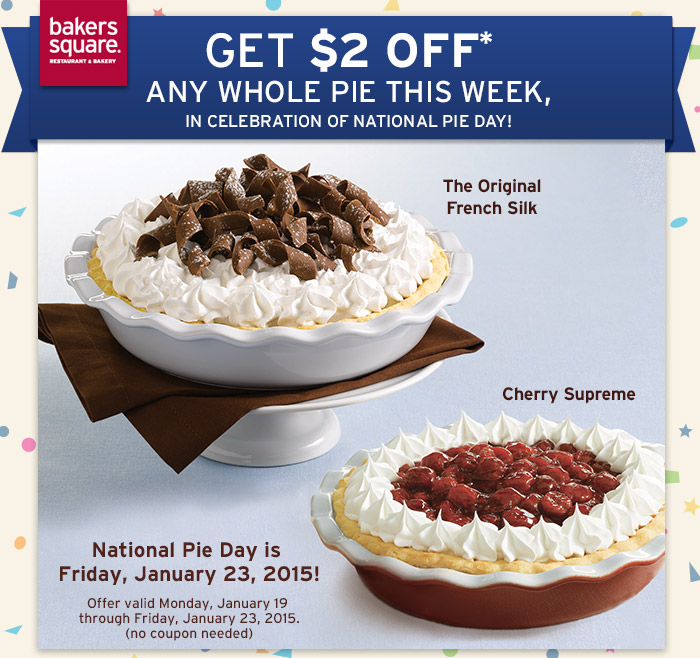 Bakers square pie coupon 2018